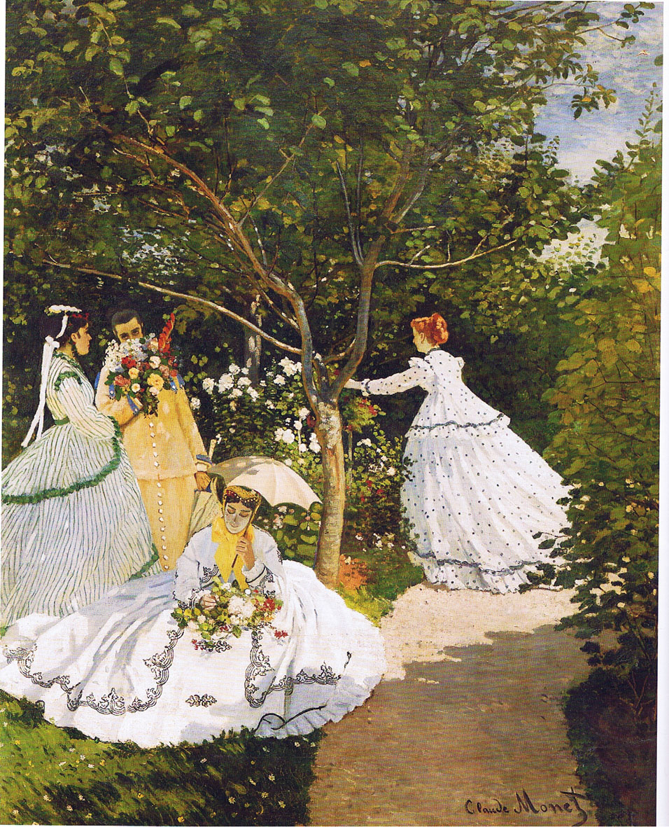 claude mmonet femmes au jardin the ganns in paris